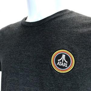 Atari 1980's Game Console Logo Gray Tshirt M